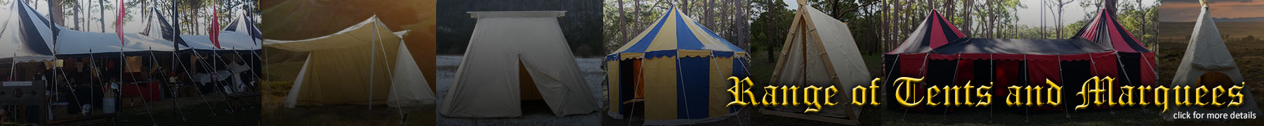 Range of tents and marquees - click for more details