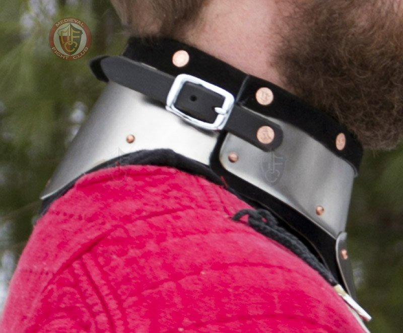 Stainless Steel/&Leather Gorget delivers GREAT Protection SCA//WMA medieval combat