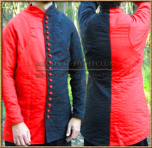Black & Red Gambeson / Jupon
