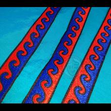 20mm Blue & Red wave pattern braid