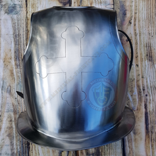 Etched cross breastplate