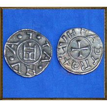 Coin replica - Crusader Genoa - CVNRADI REX