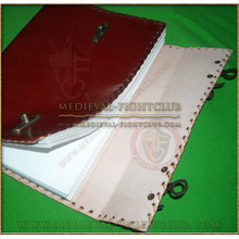 Double latch leather journal