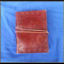 Leather Journal 'Celtic Weave Cross'
