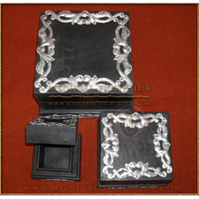 Black and Silver box - nest of 3