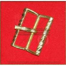 Brass buckle Twisted rectangle