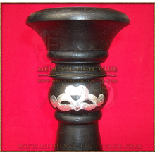 Black & silver candle holder