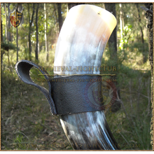 Drinking Horn Leather Holder