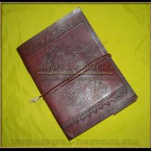 Leather Journal Celtic cross pattern
