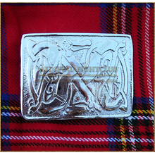 Celtic Dog Kilt Belt Buckle