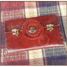 Leather Journal with Cabachon & front flap