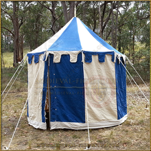 Blue+White Pavilion - Striped Round Tent (3m diameter)