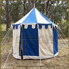 Blue+White Pavilion - Striped Round Tent (3m diameter)