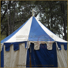 Blue & White Pavilion - Striped Round Tent (3m diameter) Roof