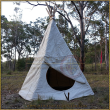 TiPi (TeePee) Tent - Large Entrance Half Closed