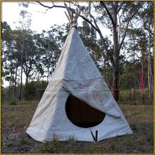 TiPi (TeePee) Tent - Large Entrance Half Closed