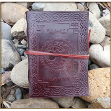 Leather Diary Journal embossed 'Tree of Life'