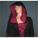 Medieval Lace-up dress with hood - Black & Red