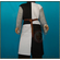 Surcoat tabard (White & Black) quartered