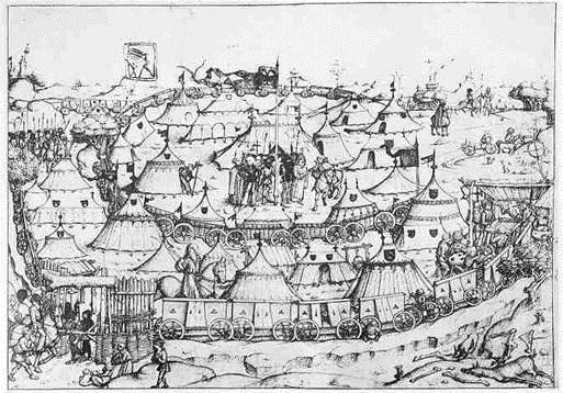Late 15th Hussite war camp.